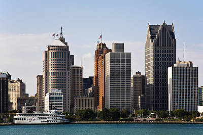 Downtown Detroit Art Print by James Marvin Phelps
