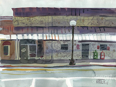 Calhouns Painting - Downtown Diner by Donald Maier