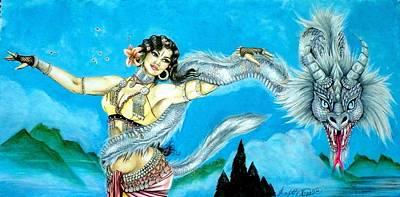 Mixed Media - Dragon Dancer by Scarlett Royal