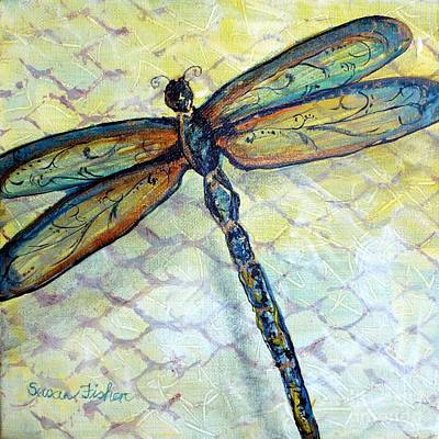 Painting - Dragonfly Dancer by Susan Fisher