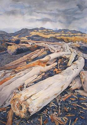 Painting - Driftwood Gathering by Leslie Redhead