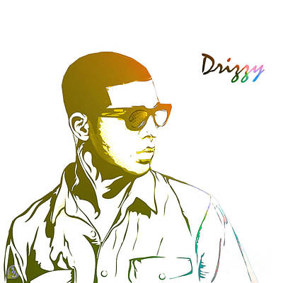 Rapper Digital Art - Drizzy  by The DigArtisT