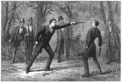 1874 Photograph - Duel, 1874 by Granger