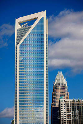 Charlotte Framed Photograph - Duke Energy Tower by Patrick Schneider