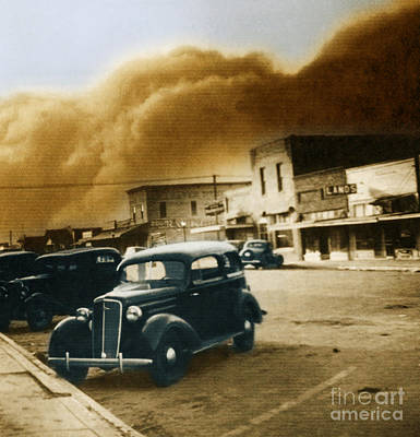 Photograph - Dust Bowl Of The 1930s Elkhart Kansas by Science Source