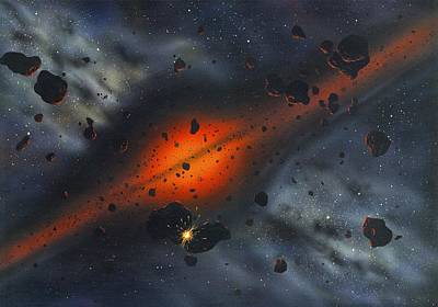 Early Solar System, Artwork Art Print by Richard Bizley