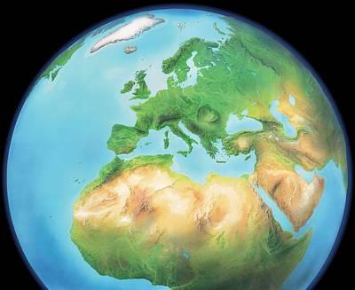 Earth, Artwork Art Print by Gary Hincks
