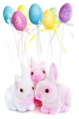Animals Photos - Easter bunny toys 1 by Elena Elisseeva