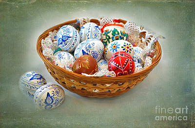 Easter Eggs Art Print by Louise Heusinkveld