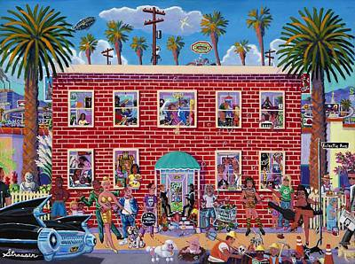 Venice Beach Painting - Eclectic Avenue by Frank Strasser