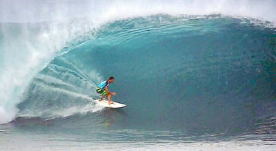 Triple Crown Of Surfing Photograph - Eco Perfect Pipeline by Kevin Smith