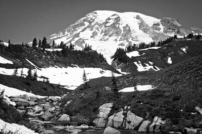 Photograph - Edith Creek Near Mount Rainier by David Patterson