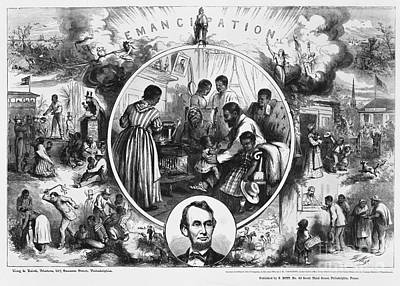 Effects Of Emancipation Proclamation Art Print by Photo Researchers