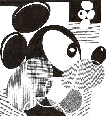 Drawing - Egg Mickey Mouse by Phil Burns