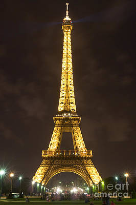 Photograph - Eiffel Tower By Night by Fabrizio Ruggeri