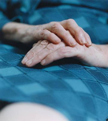 Infirm Photograph - Elderly Woman's Hands by Karen Brett