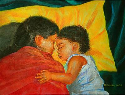 Comfort Painting - Eldest's Embrace by Matthew Doronila