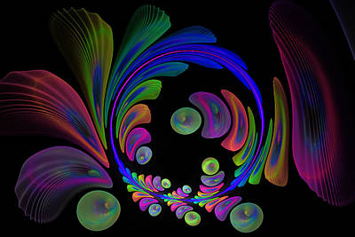 Digital Art - Electric Wreath by Rick Chapman