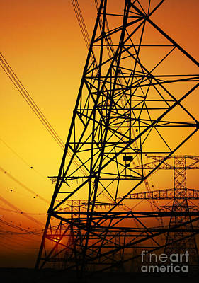 Photograph - Electricity Pylon by Anna Om