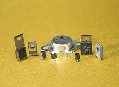 Integrated Photograph - Electronic Circuit Board Components by Andrew Lambert Photography