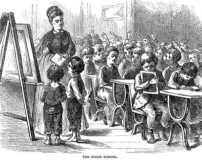 Elementary School, 1873 Art Print by Granger