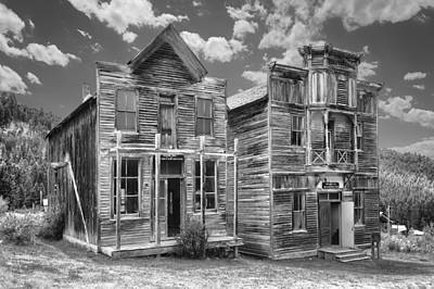 Lodes Photograph - Elkhorn Ghost Town Public Halls - Montana by Daniel Hagerman