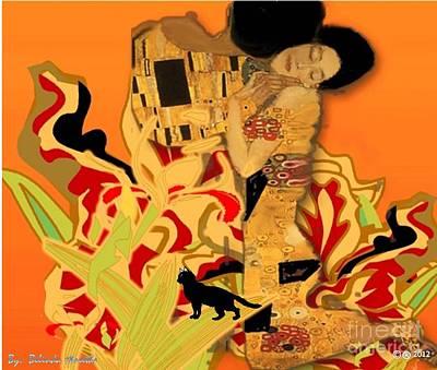 Afro Mixed Media - Embrace by Belinda Threeths