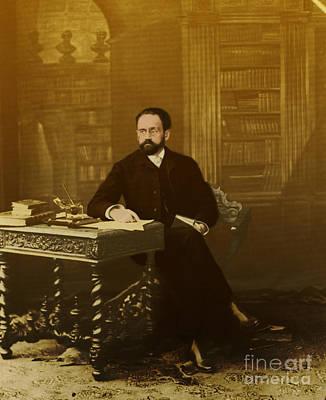 Emile Zola 1840-1902 Novelist Art Print