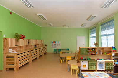 Whiteboard Photograph - Empty Estonian Elementary Grade School by Jaak Nilson