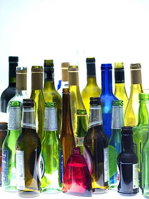 Waste Materials Photograph - Empty Wine And Beer Bottles by Tek Image