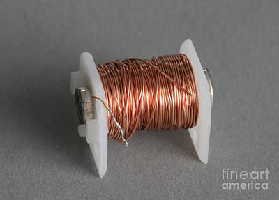Enamel Coated Copper Wire Print by Photo Researchers
