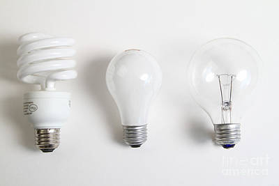 Energy-saving And Incandescent Light Art Print by Photo Researchers