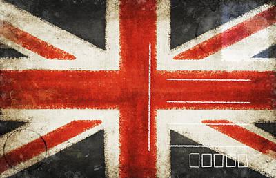 Message Art Photograph - England Flag Postcard by Setsiri Silapasuwanchai