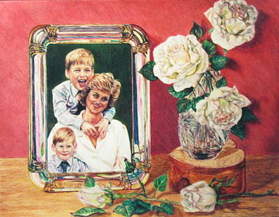 Prince Harry Painting - England's Rose by Bonnie ODonnell