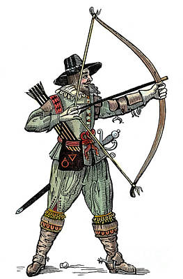 English Archer, 1634 Art Print by Granger