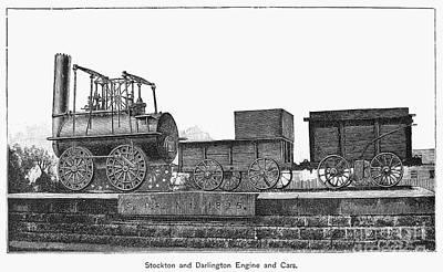 English Locomotive, 1825 Art Print by Granger