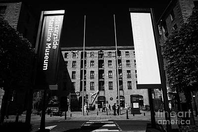 Entrance To The Albert Dock And Beatles Museum Liverpool Merseyside England Uk Art Print by Joe Fox