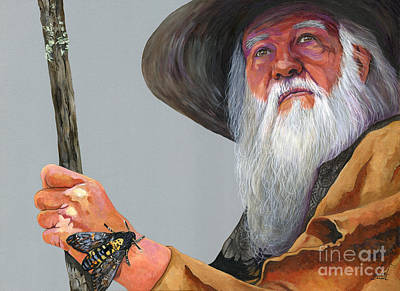 Moth Man Painting - Ephemeral by J W Baker