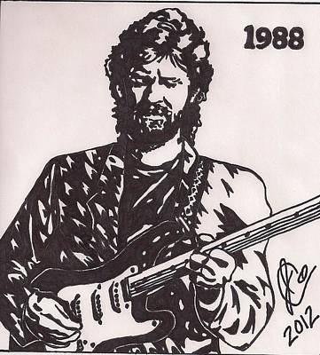 Eric Clapton Drawing - Eric Clapton by Jeremiah Colley