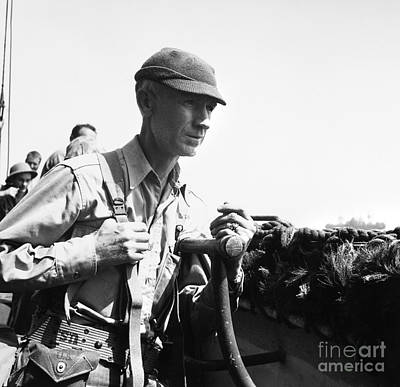 Ernie Pyle (1900-1945). American Journalist. Photograph, C1942 Art Print by Granger