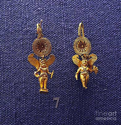 Gold Earrings Photograph - Eros Earrings by Andonis Katanos