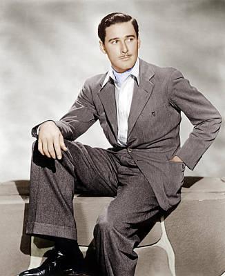 Gray Suit Photograph - Errol Flynn, Ca. 1930s by Everett