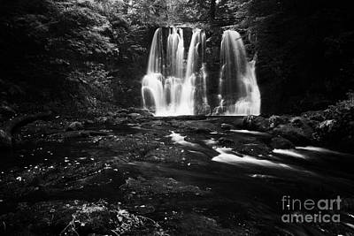 Ess-na-crub Waterfall On The Inver River In Glenariff Forest Park County Antrim Northern Ireland Uk Art Print by Joe Fox
