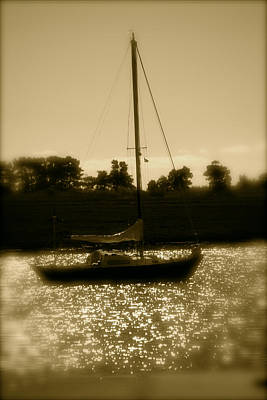 Photograph - Evening Sail by Jez C Self