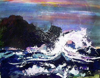 Evening Wave Art Print by Valerie Wolf