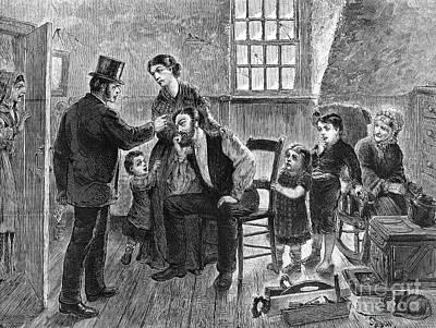 Eviction, 1873 Art Print