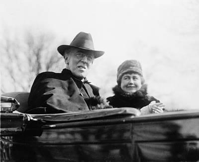 Ex-president Woodrow Wilson 1856-1924 Art Print