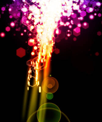 Abstract Movement Digital Art - Explosion Of Lights by Setsiri Silapasuwanchai