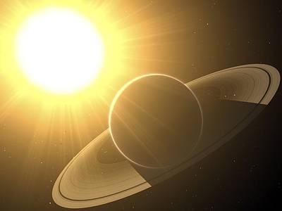 Extrasolar Planet Pollux B, Artwork Art Print by Chris Butler