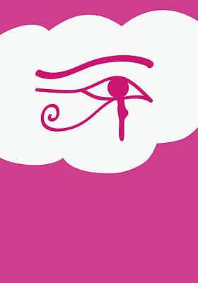 Horus Digital Art - Eye Of Horus by Sofia Wrangsjo